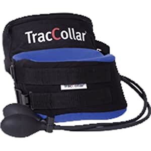 TracCollar Neck Traction Collar - M/L (Blue) by BodySport (English Manual)