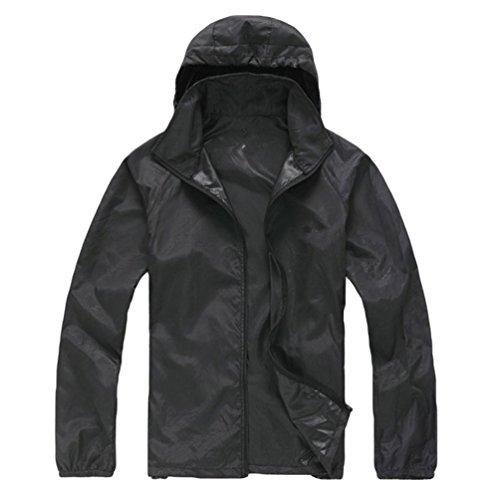 Byqny uomo donna all'aperto magro giubbini con cappuccio cappotti da campeggio trekking montagna giacca a impermeabile vento uv giacche di softshell