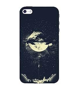 FUSON Amorous Exploits Love Moon 3D Hard Polycarbonate Designer Back Case Cover for Apple iPhone 5S