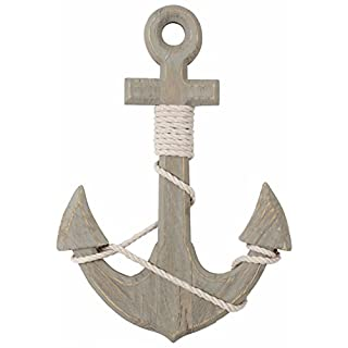 46Cm Nautical Home Accessory Seashore Wooden Ships Anchor Decoration