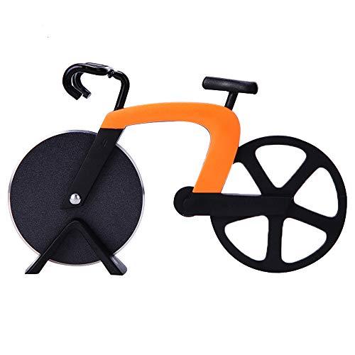Fahrrad Pizzaschneider,Pizzaschneider mit Klingen aus Rostfreiem Stahl zum Schneiden von Pizza