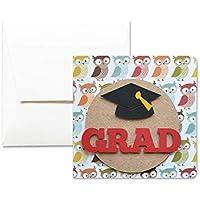 Grad - Graduation - moments de gloire - carte de voeux avec enveloppe (12 x 12 cm) - carte faite à la main - blanc à l'intérieur