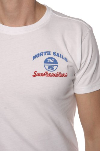 North Sails Herren Shirt Motiv T-Shirt SEA RAMBLERS Weiß