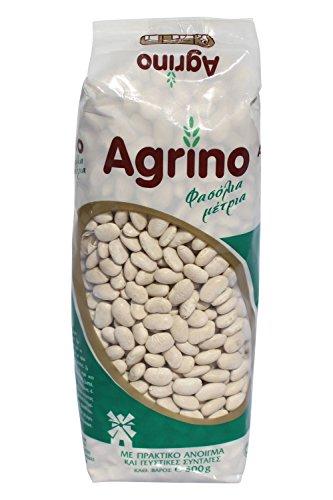 Agrino weiße Bohnen mittel 500g getrocknet aus Griechenland mittelgroße Bohnen für Ihre mediterrane Küche griechische Hülsenfrüchte