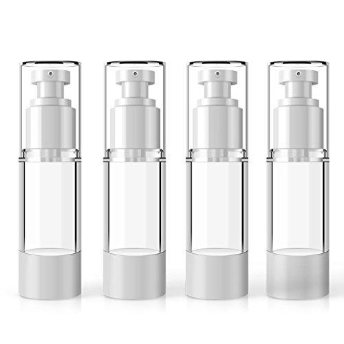 Lotion-spender-flasche (MYLL Kunststoff Airless Pumpspender Leer | Flasche mit Spender Vakuum Kosmetik Behälter - für Tiegel, Lotion spender, Creme Spender Nachfüllbar (30ml))