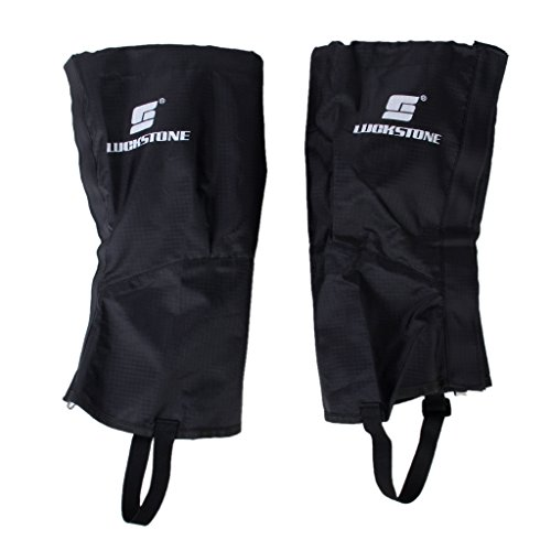 41olDIk 5KL. SS500  - 1 Pair of Waterproof Outdoor Hiking Climbing Snow Sand Legging Gaiters Leg Covers Small Size (Black)
