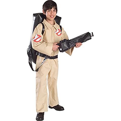 Ghostbusters Halloween Costume with Inflatable Backpack - Child Size Large 8-10 (disfraz)