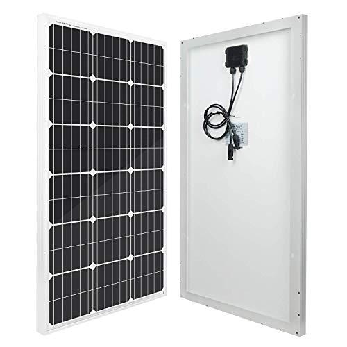 Eco-worthy - pannello solare modulo di potenza fotovoltaico monocristallino da 100 w, 12 v, per camper, barca,