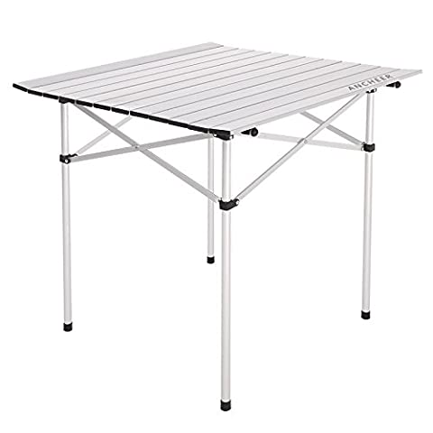 Roll-Up Table Utility pliable portable en aluminium avec sac de transport