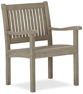 Strathwood Garden Furniture - Basics Set of 2 Hardwood Deep Seat Chairs Grey