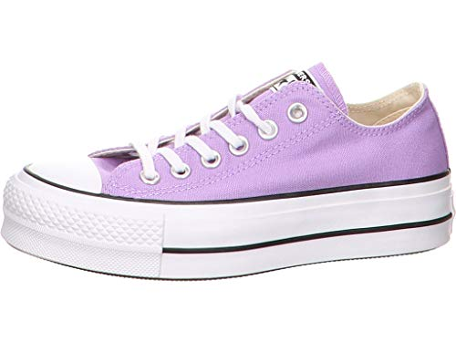 Lila Converse Sneakers (Converse Platform Sneaker Größe 39 EU Rot (lila))
