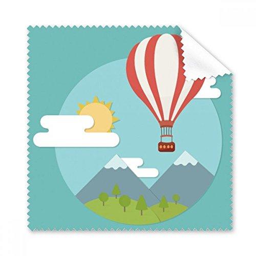 Heißluftballon Sun Cloud Muster Brille Reinigungstuch Reinigungstuch Handy-Display von 5x Geschenk