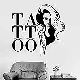 ZMYZ Adesivo da parete murale Adesivi Murali Adesivi Murali Salone del Tatuaggio Negozio di Tatuaggi Decorazione della Parete Finestra Decalcomania di Arte Soggiorno Carta da Parati 56 * 57 Cm