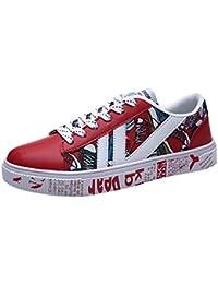 Tefamore Zapatillas de Deporte Hombre Zapatos para Correr Casual Imprimir Running Gimnasio Sneakers