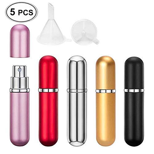 Parfümzerstäuber,zerstäuber,Parfüm-Zerstäuber-Flasche,zerstäuberglas,Parfüm-zerstäuber, Nachfüllbarer leerer Zerstäuber, Mini Reise Portable Parfüm Zerstäuber Parfüm Sprühflasche Zerstäuber(5pcs) -