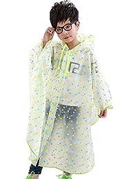 YaoDgFa Regenmantel Kinder Regenponcho Unisex mit Kapuze Wasserdicht Regencape für Jungen Mädchen