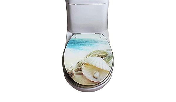 Syst/ème dabaissement automatique Si/ège de toilette blanc Couvercle de toilette /à r/éduction pour enfants ONVAYA/® Family Si/ège de toilette /à fermeture souple