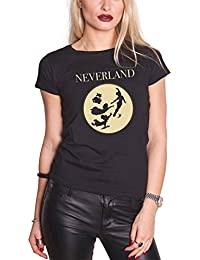 Disney Peter Pan T Shirt Neverland Moon Silhouettes Oficial De Las Mujeres
