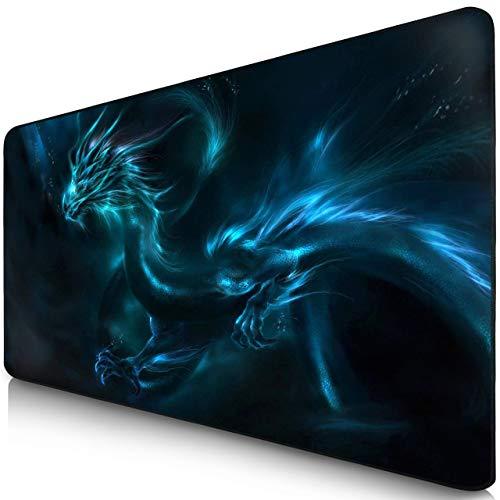Sidorenko XXL Gaming Mauspad | 900 x 400mm | Mousepad | spezielle Oberfläche verbessert Geschwindigkeit und Präzision | Fransenfreie Ränder | Rutschfest | Blau