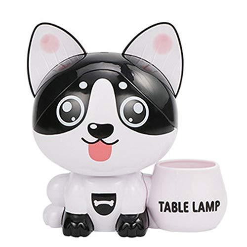 LUCKYFF Animal Sparschwein - Multifunktions-Sparschwein Nachtlicht Tischlampe Stifthalter, Zwei Lichtmodi Verwenden Augenschutz LED-Leuchten, Kinder Platzieren-Welpe -