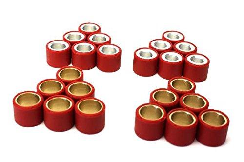 Variomatik Gewichte Abstimmset Variorollen 19x15,5mm Piaggio Fly, TPH, Zip, Gilera Runner, Stalker, Liberty, ET4 Gewichte: 4,8gr, 5,5gr, 6,0gr, 6,5gr