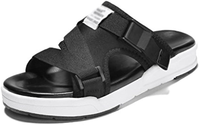 ZCJB Verano Deportes Y Ocio Zapatos De Playa Sandalias Zapatos Planos ( Color : Negro , Tamaño : 35 )
