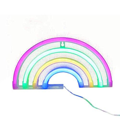 LEDMOMO Letreros luminosos de neón, luces LED arcoíris 3W lámparas luminosas de neón con luces arcoíris para habitaciones infantiles