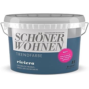 2 5l Schoner Wohnen Trend Wandfarbe Matt Spa Amazon De Baumarkt