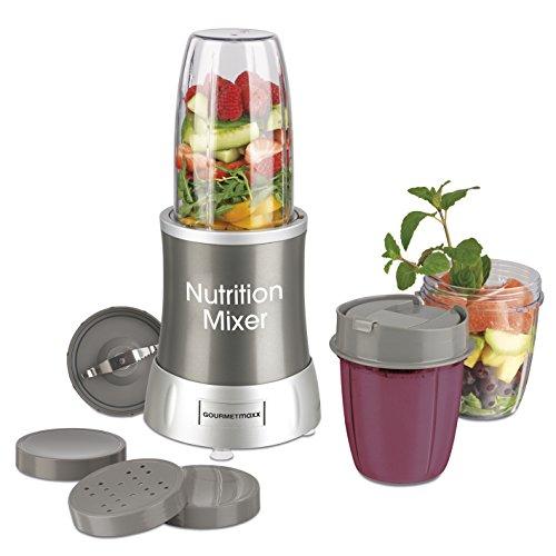GOURMETmaxx 09817 Nutrition Mixer für Smoothies, grau -