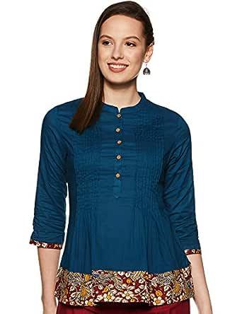 Amazon Brand - Myx Women's Cotton A-Line Kurti