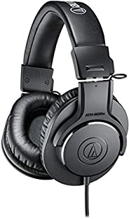 Audio-Technica ATH-M20x Professional Studio Monitor Headphones, Black ATH-M20X AUD ATHM20X