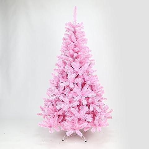 Arbre Sapin de Noël Rose 1,80m et 2,10m Au Choix par Festive Lights (2,10m)