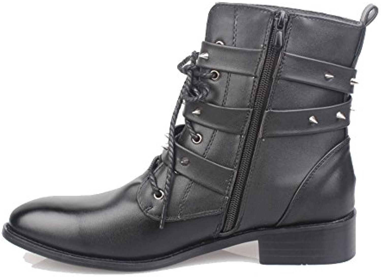 Mode koreanische Version des Trends der britischen Stiefel Martin Stiefel Herren Militärstiefel Metallstiefel