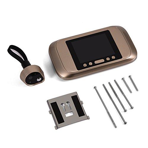Cámara Zerone Zerone de 3,2 pulgadas LED para puerta, visor de puerta digital, ángulo amplio de 160 °, monitor de cámara de seguridad HD para tarjeta Micro SD