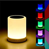 RVP Portable Bluetooth Speaker with Smart Colour Changing Touch Mode Night Lamp