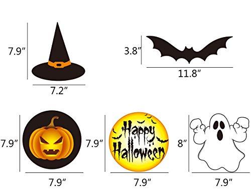 VSTON Halloween Dekoration zum Aufhängen, Wirbel, Party-Set mit Kürbis-Geist, Happy Halloween Swirls 30 Packungen - 2