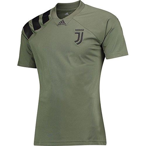 adidas Juventus Li Tee, Maglietta Uomo, Verde (Verbas/Nero), L