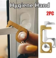 Contactless Safety Door Opener Safety Protection Isolation Brass Key Door Opener, Silver,gold