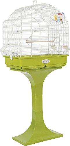 Zolux Louise su Piede Gabbia per pappagalli calopsittes/Conures Oliva 68,5x 36x 135cm