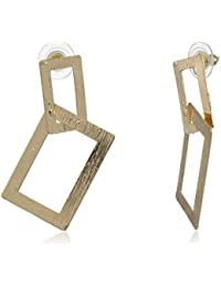 Thingalicious Gold Plated Drop Earrings for Women (TER00089)