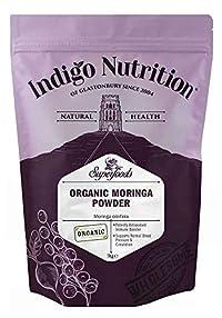 Indigo Herbs 1Kg: Organic Moringa Powder - 1Kg Certified Organic)