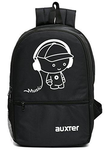AUXTER MUSIC 33 LT Black Casual backpack I School Bagpack