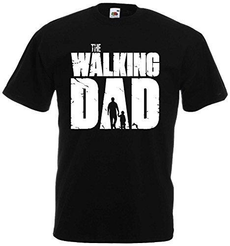 Walking Dad Herren T-Shirt perfekt für den Papa ALS Geschenkschwarz-S