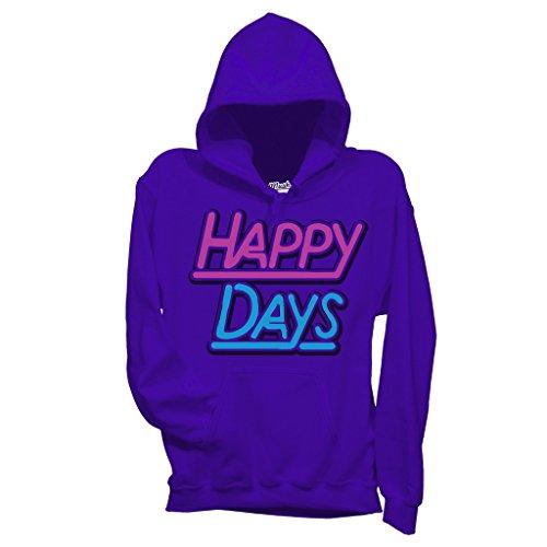 Sweatshirt Happy Days 70'S Tv Show - FILM by Mush Dress Your Style - Herren-M-Violett