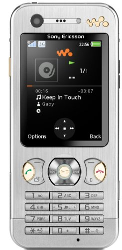 Sony Ericsson W890i UMTS-Handy (Bluetooth, MP3-Player, Kamera) Sparkling Silver