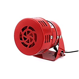 sourcingmap® AC 220V 114dB Warnung Horn Sicherheit Micro Motor Siren Alarm Rot MS-190 de