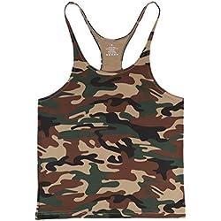 Musclealive Hombre Camisetas de Tirantes Entrenamiento Hombre Fitness Deportivo Gimnasio Tops Camisetas T-Shirts Chaleco para