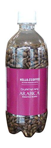 VietBeans Hello5 100% Arabica - Premiumkaffee aus Vietnam - Kaffee Geschenk - Aromatisch traditionell geröstete, ganze Kaffeebohnen in der Flasche - Aroma geschützt - 200g (Kaffeebohnen Wien, Ganze Bohne)