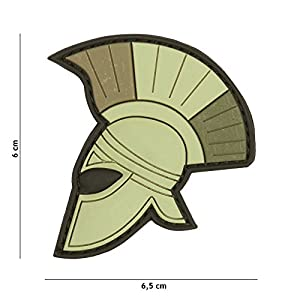 Patch 3D PVC Casque Romain Drapeau Italie Vert / Cosplay / Airsoft / Camouflage