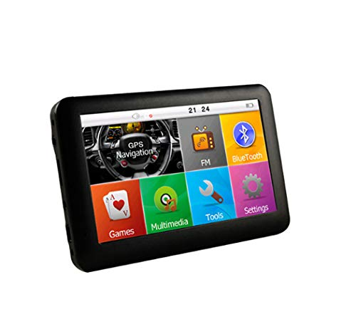 Y&Jack Car Driving Recorder Car GPS Navigation, 4.3 Inch GPS Navigator, Free Lifetime Traffic and World Map, WiFi Connection, Driving Alarm, Voice Steering